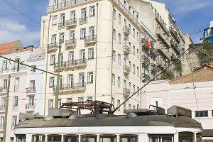 Tram in Lisbon.