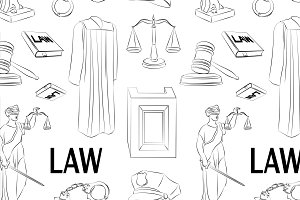Law hand drawn pattern.