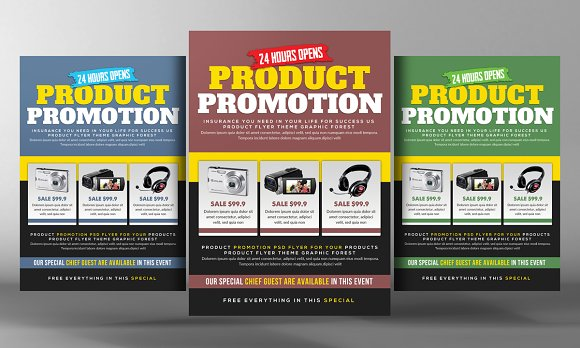 Product Promotion Flyer Psd Flyer Templates on Creative Market – Free Product Flyer Templates
