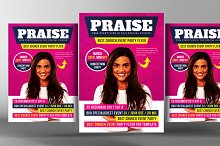 Gospel Praise Church Flyer Template