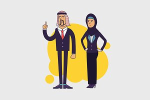 Arabic business team