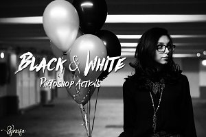 60 Black & White Photoshop Actions