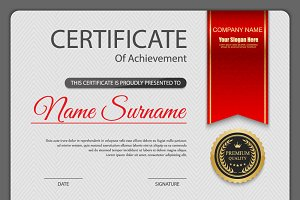 Vector certificate template 11 in 1