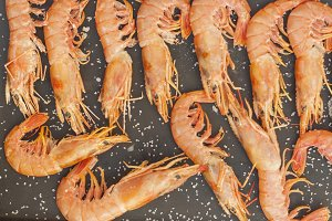cooked prawns grilled