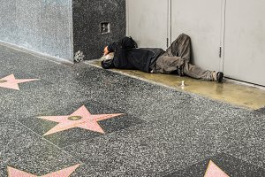 Hollywood Walk of Fame homeless