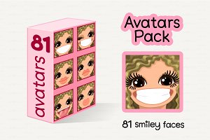♥ vector Avatars Pack 81