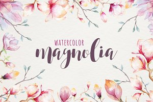 Watercolour magnolia