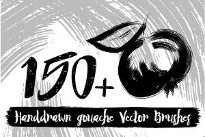 Handdrawn gouache Vector Brushes