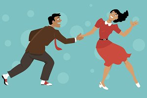 Dancing Lindy Hop