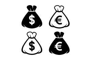 Money Bag Icon Set