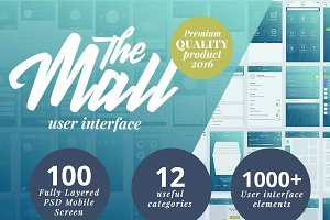 """The Mall"" Premium mobile UI kit"