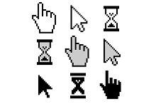 Cursors icons set