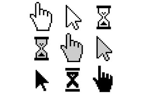 Cursors icons set