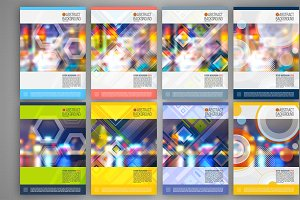 Set of abstract cover design