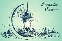 Ramadan celebration illustration