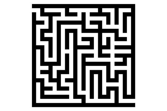 Maze Labyrinth Graphic Patterns Creative Market Classy Labyrinth Pattern