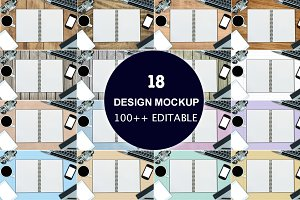 18 DESIGN MOCKUP 100EDITABLE