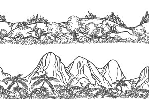 Mountains and forest landscapes