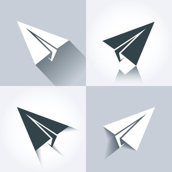 Vector paper plane icons ~ Graphics ~ Creative Market
