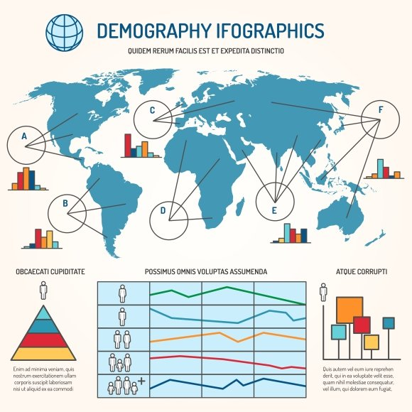 demographic infographics template graphics creative market