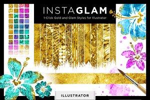 Gold Foil Textures+Styles Ai Bundle
