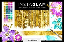 Gold Foil Textures+Styles PS Bundle