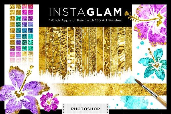 Gold Foil Textures+Styles PS Bundle