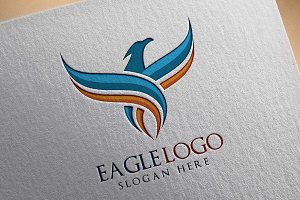 Eagle Fly Logo Template