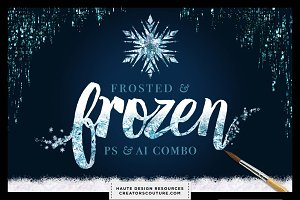 Frozen Styles Bundle Photoshop + Ai
