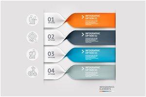 Modern Spiral Infographics Template.
