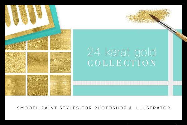 Liquid Gold Paint Textures+Styles