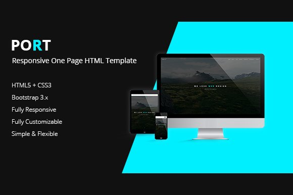 PORT - One Page HTML Template ~ HTML/CSS Themes ~ Creative Market