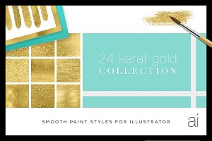 Liquid Gold Paint Textures+Styles Ai