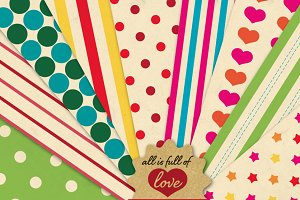 Patterns Rainbow Vintage Paper