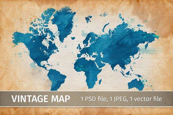 Vintage map. Grunge background - Illustrations
