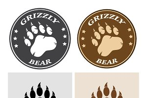 Bear Paw Print Collection - 2