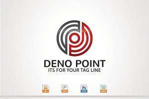 Deno Point,D/P Letter Logo