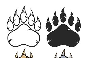 Bear Paw Logo Collection