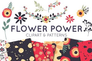 Hand Painted Flowers and Patterns