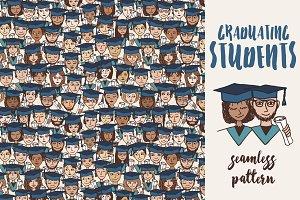 Graduating Students Seamless Pattern