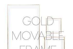 KATEMAXSTOCK Gold Movable Frame Set