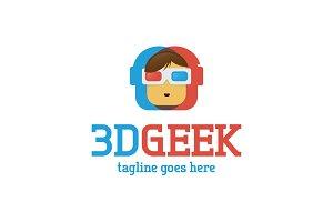 3D Geek Logo