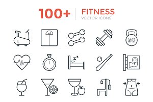 100+ Fitness Vector Icons