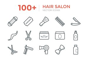100+ Hair Salon Vector Icons