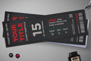 Dark noise ticket template