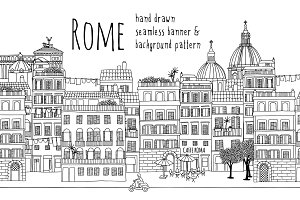 Rome - Seamless Banner & Pattern