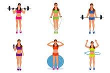 fitness woman, pilates, bodybuilding
