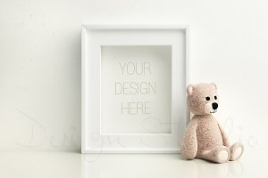 Nursery frame mock up,styled photo