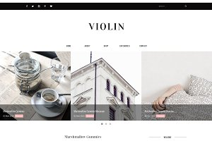Blogger Template Responsive - Violin