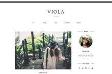 Blogger Template Responsive - VIOLA